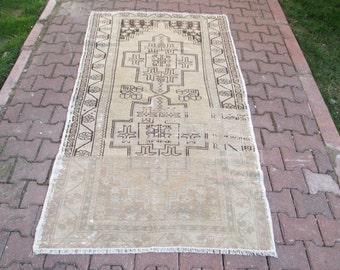 Vintage Oushak Rug Turkish Handwoven Rug 83 x 49 inches   kilim rug