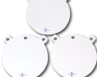 Three AR500 Steel Gong 8 inch x 3/8 inch Shooting Targets- Rifle Targets Free Shipping!!!