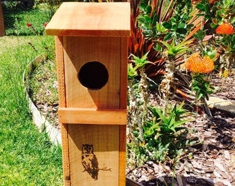 Screech Owl Nesting Box - Natural RedWood - Nature's Rodent Control