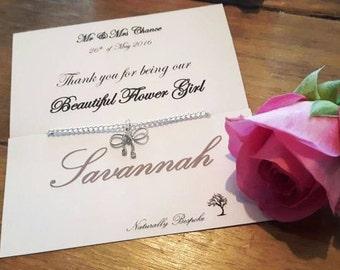 Bridesmaid bracelet, Tie the knot, Tie the knot bracelet, tie the knot jewelry, Bridesmaid, Bridesmaid jewellery, Flower girl bracelet