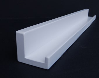"Ultra Narrow Floating ledge Shelf, Picture ledge, You Choose length. 36"", 38"", 40"", or 42 Inch. Bright White Finish"