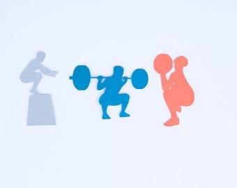 Crossfit Confett, Crossfit, Male Crossfit, Box jump, Wall Ball, Back Squat, Crossfit party, 30 pieces