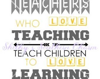 Teachers who love teaching svg/dxf/eps file