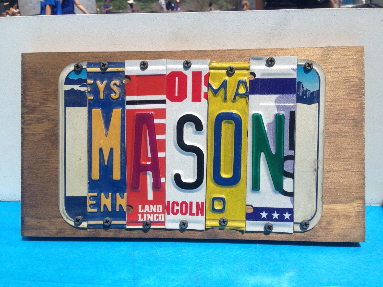 5 letter custom license plate sign for Custom license plate letters