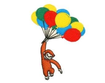 Monkey wilth balloon Applique Iron on Patch