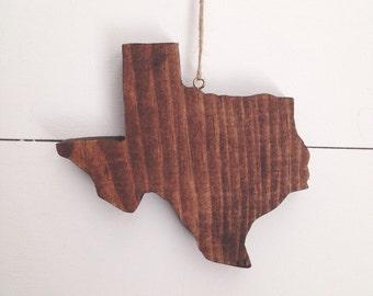 Wood Texas Ornament