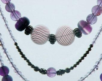 Multi-strand Amethyst necklace