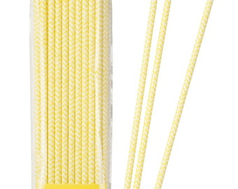 Mix & Match Yellow Chevron Straws Party Tableware Accessories Party Supplies