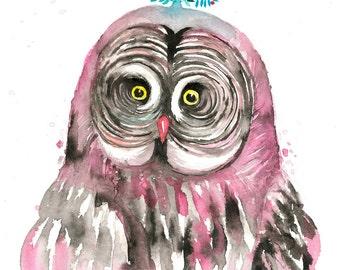 Dreamy OWL 7. Art Print.