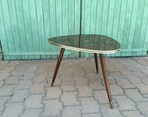 Vintage tripod coffee table - Formica board - 1960s French vintage