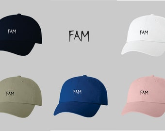 Dad Hat Baseball Cap Embroidered FAM