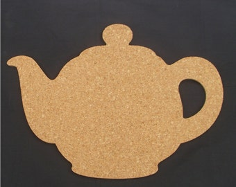 Teapot bulletin board made of cork - color me