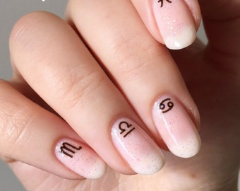Galaxy Space Sci Fi Zodiac Astronomy Constellation Water Slide Nail Decals/Nail Tattoos/Nail Stickers