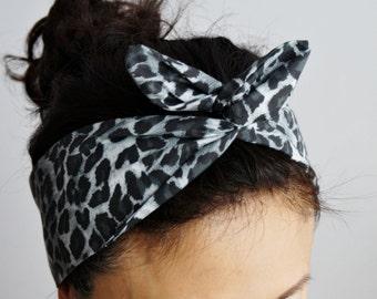 Zebra druckt Dolly Bogen Stirnband/innere Headwrap/schwarz weiße Turband verdrahtet