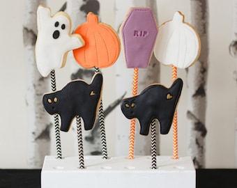 Halloween biscuits for trick or treating - halloween cookies, ghost biscuit, tombstone biscuit, pumpkin biscuit, trick treat gift, halloween