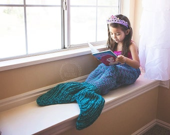 Crochet Pattern for Mermaid Tail Blanket - DIY Tutorial to make it yourself - Welcome to sell finished items