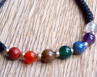 Kundalini 7 Chakra Bracelet (with adjustable slip knot)