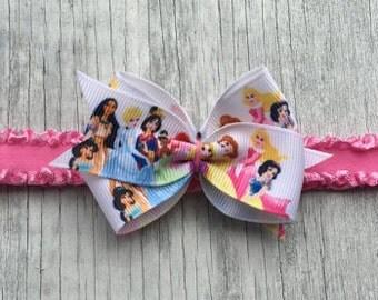 Disney Princess Bow // Disney Princess Headband // Disney Princess Toddler Clip // Disney Princess Hairbow // Bow // Disney Princess Clip
