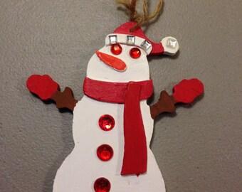 Wooden Christmas Ornament, Snowman, Winter, Holidays, Holiday Decoration, Christmas Decoration,