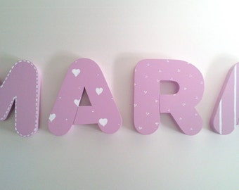 Decorative letters wall