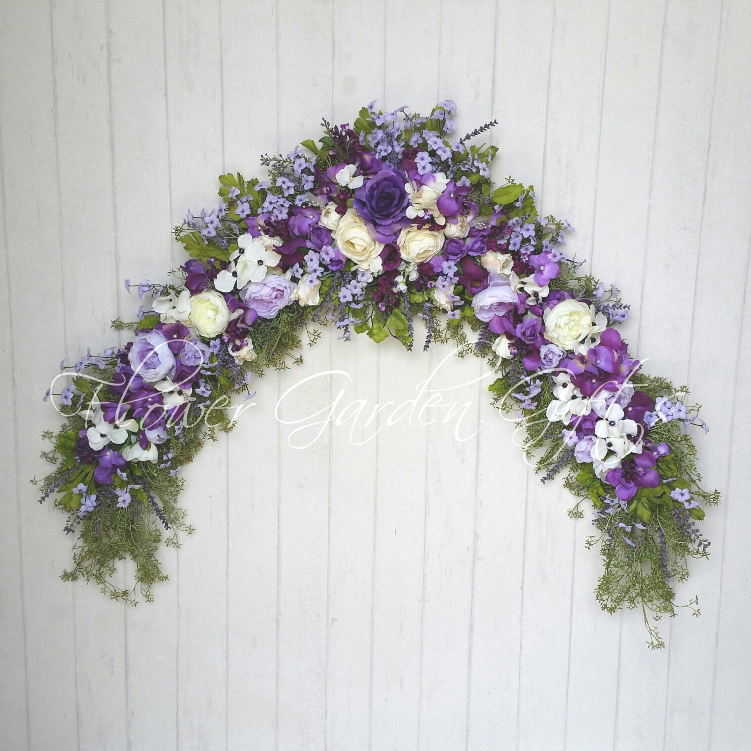 Names Of Purple Flowers For Wedding: PURPLE FLORAL SWAG Wedding Arch Swag Wedding By