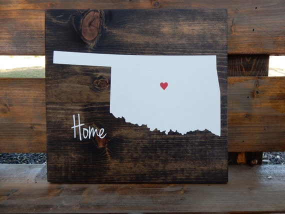 Oklahoma Wood Sign State Sign Home Decor Wall By