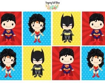 Super Heroes Planner Sticker Set