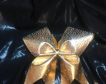 Gold Rhinestone Bow