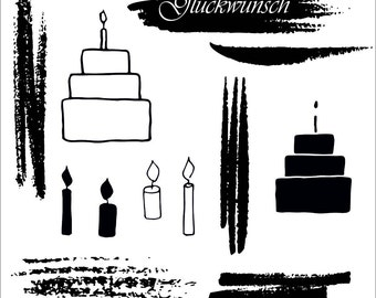 Clear stamps _ light _ 017