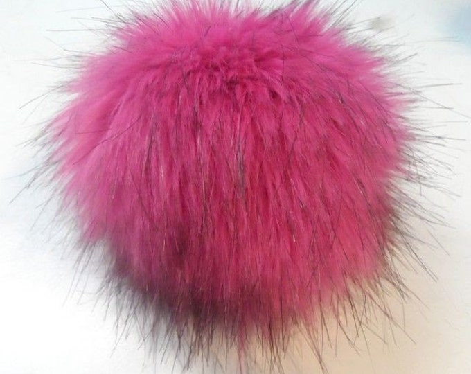 Featured listing image: Size M faux fur pom pom 5 inches/12 cm