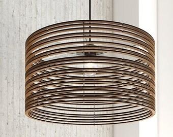 Wood Pendant Light Hand Turned Minimal Design Lights Hanging