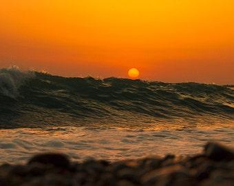 Sunset at the sea - Nature - Seascape photography - Beach Photography Ocean - Framed Photography - Wall art - Print Photo