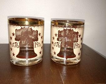 1776-1976 Bicentenial Glasses