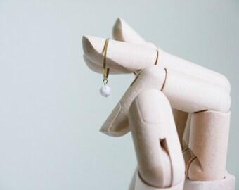 white ring, minimalist ring, gemstone ring, statement Ring