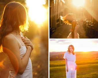 60 Sun Lens Flare Photoshop Overlays, Sun beams and streaks, light overlay, sun overlay, sun flare overlay