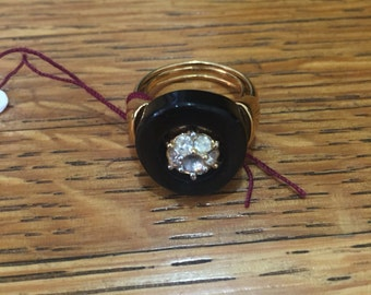 Vintage Costume Faux Diamond Ring