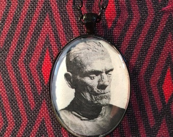 Boris Karloff The Mummy Universal Monsters Resin Pendant Necklace Horror