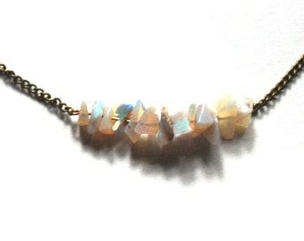 Australian Opal Chip Choker Necklace