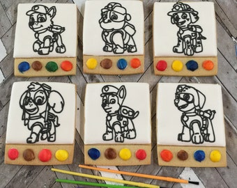6 Dog Paw Paint Your Own Cookies