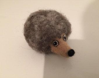 OOAK Needle Felted Wool Sculpture 'Hedgehog'