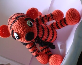 Crocheted Tiger in Orange and Black