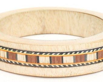 Handmade Wood Bangle Bracelet