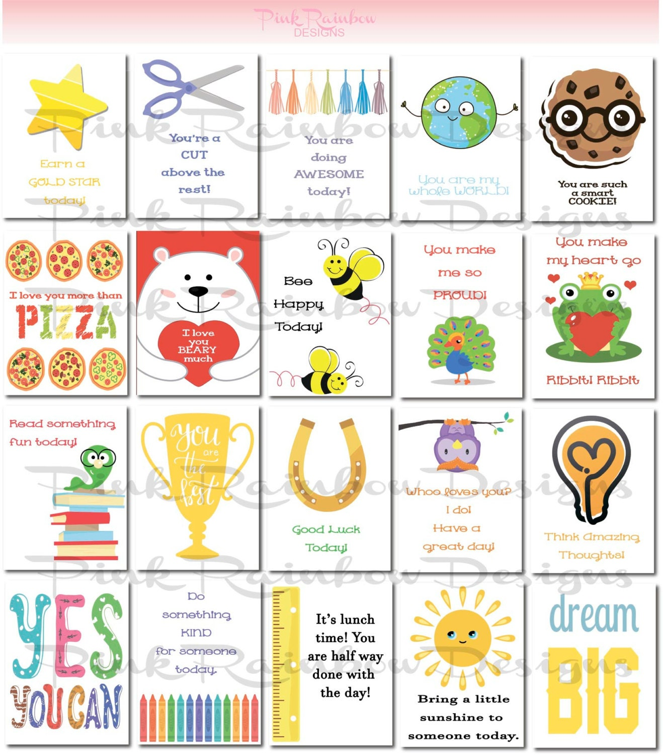 20 bible verse lunch box notes cards with verses for kids