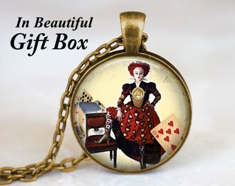 Queen Of Hearts • Red Queen •  Alice in Wonderland Jewelry  • Queen Of Hearts Necklace • Fairy Tale Jewelry • Through The Looking Glass
