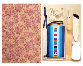 Bookbinding Toolkit   Make a Beautiful A5 Hardcover Journal   Coptic Stitch E-manual Included   Beautifully Packed   Unique gift