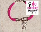 Gymnastics Jewelry, Gymnastics Gift, Gymnastics Charm, Gymnastics Bracelet, Gymgastics Quote, Gymnastics Charm Bracelet w/ Motivational Card
