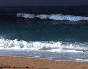 8x10 Digital Photo Enlargement of North Shore Oahu Surf