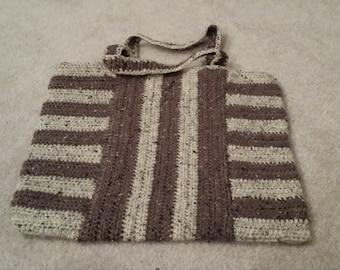 Brown and Cream Tote Bag