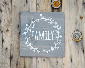 Family sign, Wooden sign, Rustic Home decor, Wood sign