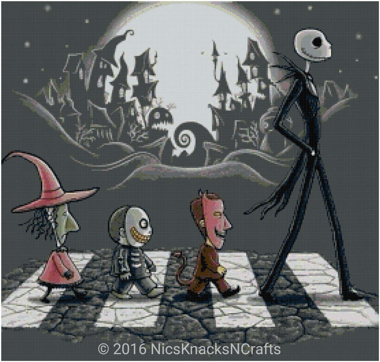 Free Comic Book Day Nightmare Before Christmas: Nightmare On Abbey Lane Cross Stitch Pattern